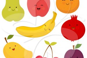 fruit and vegetables clipart 4