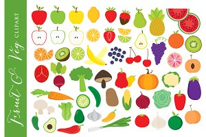 fruit and vegetables clipart 5