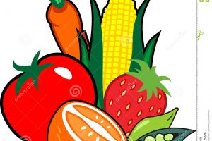fruit and veggies clipart 2