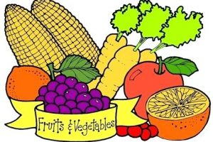 fruit and veggies clipart 3