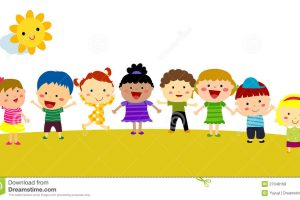 funny kids clipart 1