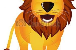 funny lion clipart 2