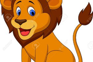 funny lion clipart 3