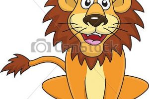 funny lion clipart 4
