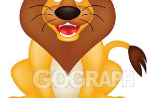 funny lion clipart 5