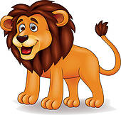 funny lion clipart 6