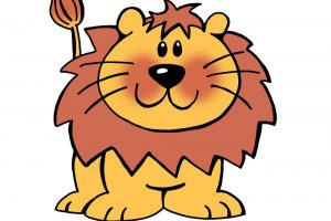 funny lion clipart 7