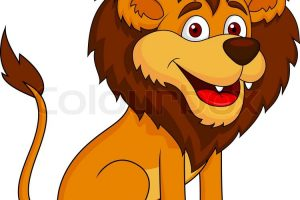 funny lion clipart 8
