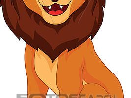 funny lion clipart 9