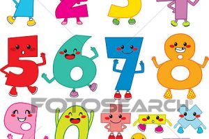 funny numbers clipart 2