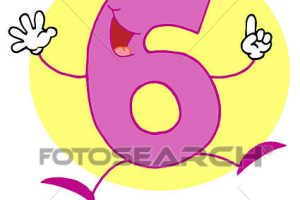funny numbers clipart 3