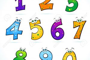 funny numbers clipart