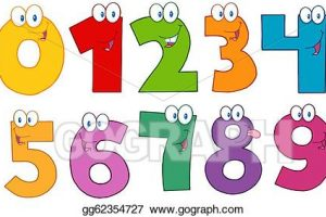 funny numbers clipart 4