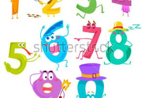 funny numbers clipart 5