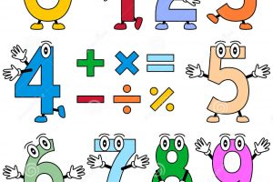 funny numbers clipart 8