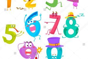 funny numbers clipart 9