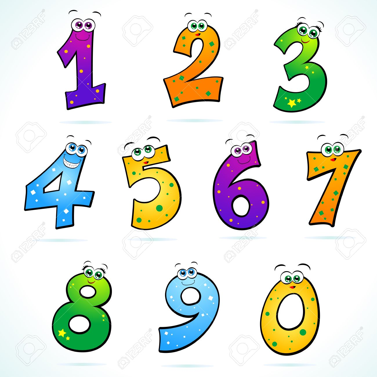 Funny numbers clipart » Clipart Station