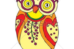 funny owl clipart 4