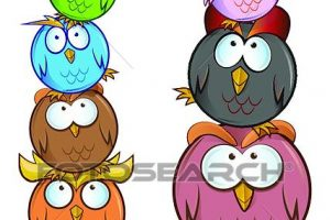 funny owl clipart 5