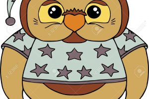 funny owl clipart 6