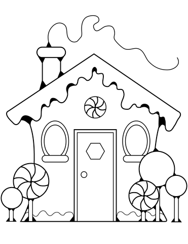 Gingerbread House Clipart Black And White 1 Clipart Station