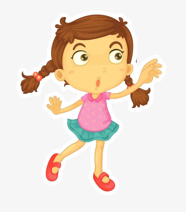 Girl dancing. Clipart station