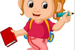 girl going to school clipart 4