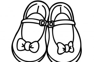girls shoes clipart black and white