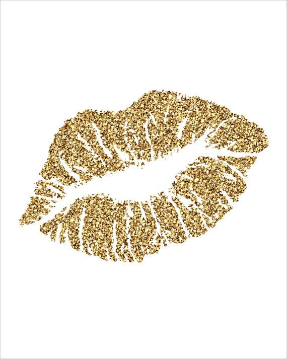 Lips gold. Clipart station