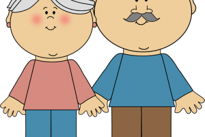 grandpa and grandma clipart