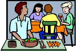 group of people eating clipart 8