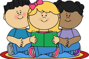 groups of kids clipart