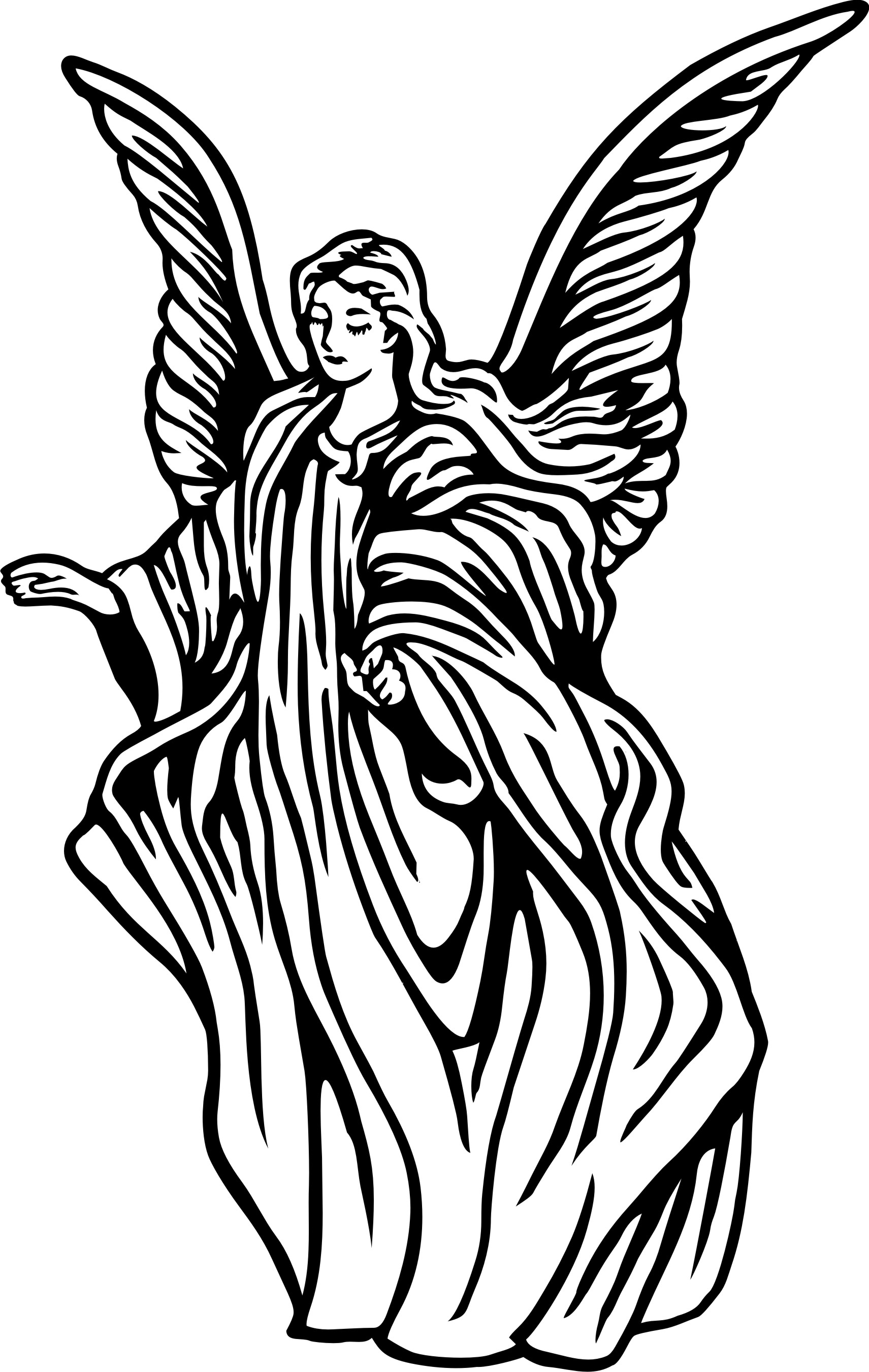 Angel drawing. Guardian angels drawings clipart