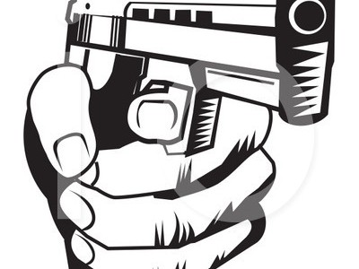 Gun pointing at you clipart » Clipart Station