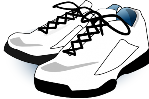 gym shoes clipart