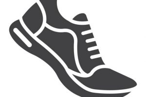 gym shoes clipart 6