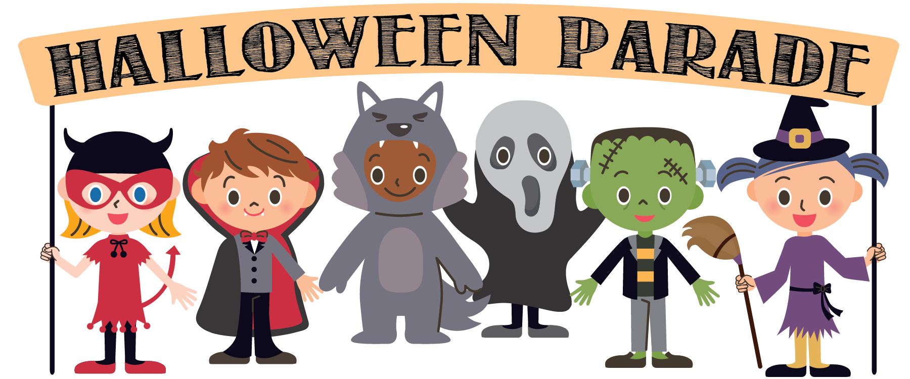 Image result for halloween parade clipart