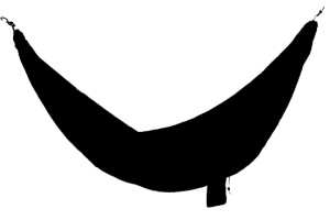 hammock clipart black and white