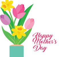 happy mothers day flowers clipart