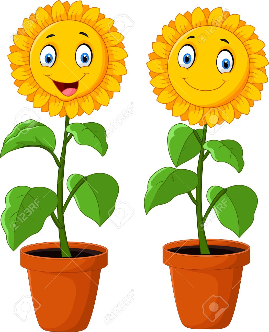 Happy sunflower clipart 5 » Clipart Station