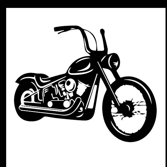Harley davidson white. Clipart black and station