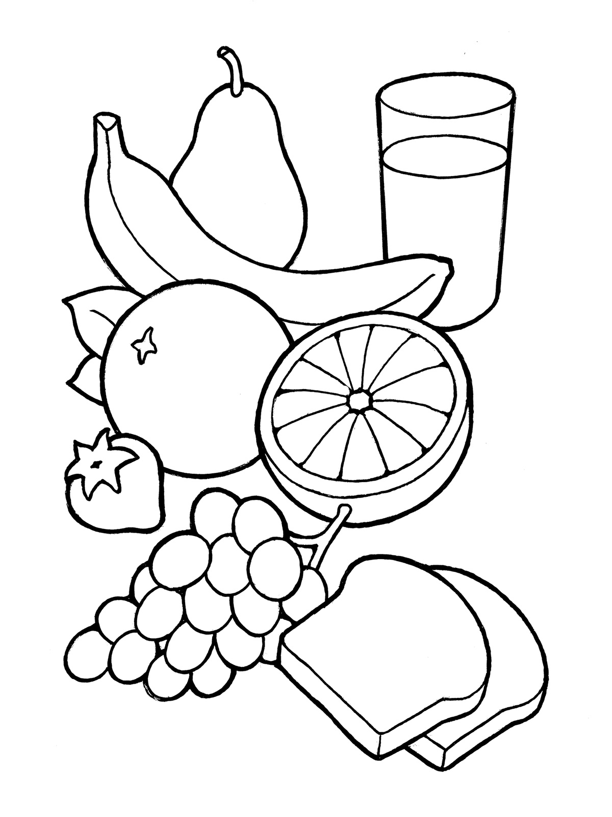 Healthy Food Clipart Black And White – Clipartxtras throughout