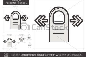 horizontal scroll clipart 3