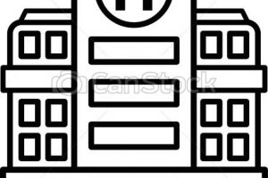 Large Hospital Building. Modern Hospital Building Vector throughout Beautiful Of Hospital Clipart Black And White