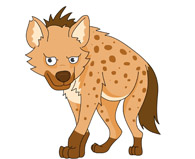 mean looking hyena