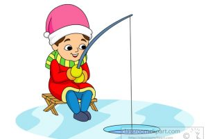 ice fishing clipart