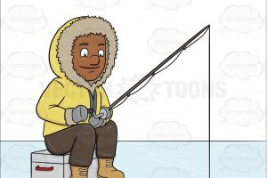 ice fishing clipart 2