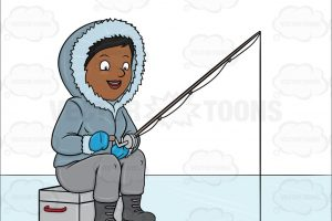 ice fishing clipart 3