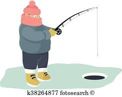 ice fishing clipart 4