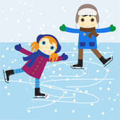 ice skating clipart 1